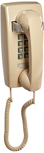 Ivory Telephone - Cortelco Single Line Wall Telephone (ITT-2554-V-IV)