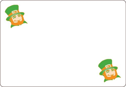 Ace Label 7115AL Leprechaun Adhesive Name Badge, Multicolor, 20 Sheets Per Pack]()