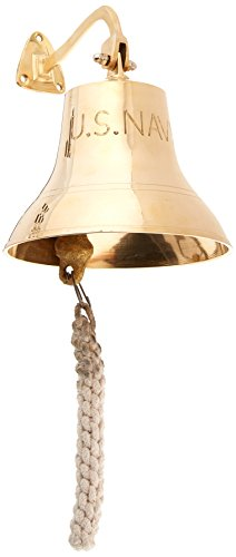 Solid Brass Ship Bell Nautical Bells 6'' Inch Home Garden Kitchen Decor by IOTC