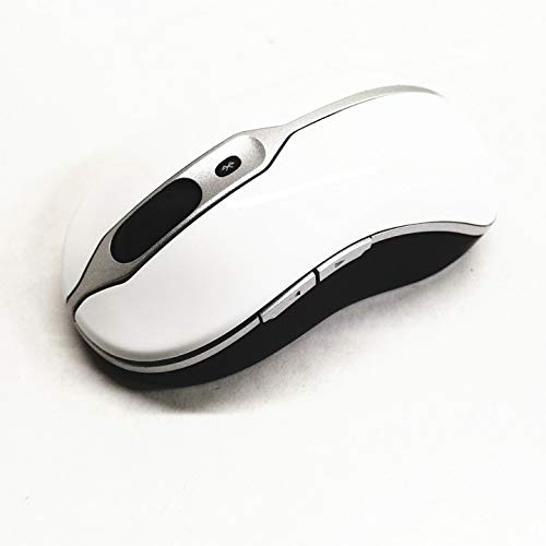 ravel Laser Mouse White Fits Dell F304K F300K G716K 0F304K 0F300K 0G716K - Does not Come with dongle. Must Have a Bluetooth Device. ()