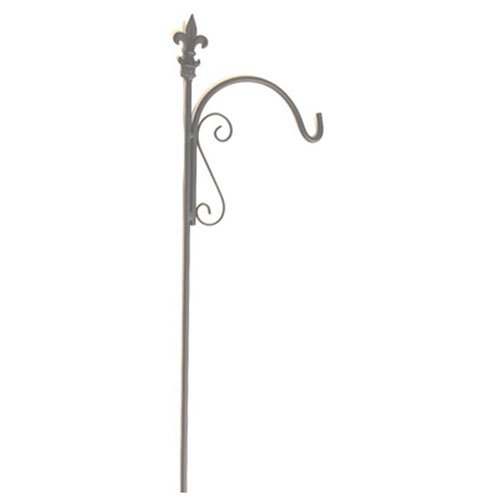 American Garden Works LATS Lafayette Collection Fleur de LYS Single Arm Shepherd Hook, 90
