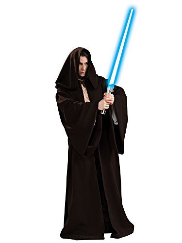 Deluxe Robe (Rubie's Men's Jedi Super Deluxe Adult Robe, Black, One Size)