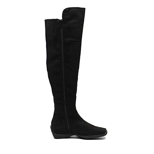 Spot On Boots Micro Fibre Suede Black 94VWcTs