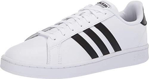 (adidas Men's Grand Court, Core Black/Cloud White, 4 M US)