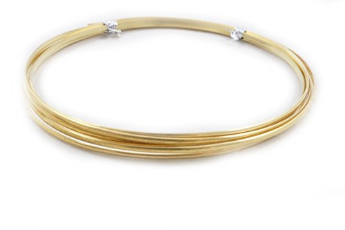 (12 Gauge, Red Brass Wire, Half Round, Dead Soft, CDA #230-5FT from Craft Wire)
