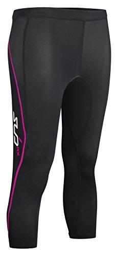 SUB Sports ELITE RX Womens Graduated Compression 3/4 Leggings - Black/Pink - S