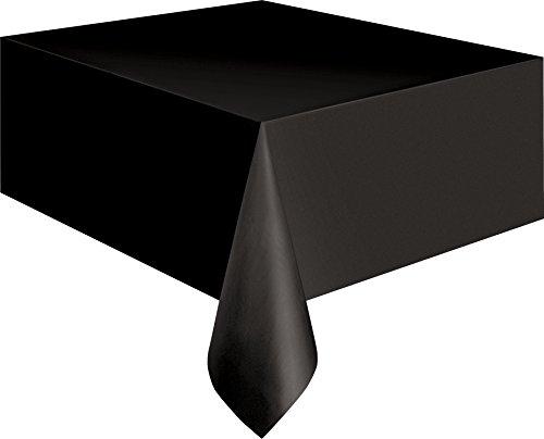 Schwarze Kunststofftischdecke