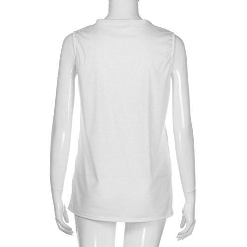 Para Blusas Blanco Mangas Camiseta Mujeres Sin Top Camisas Mujer d7xwCq7rU