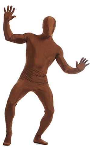 Seeksmile Unisex Lycra Spandex Full Bodysuit Zentai (XX-Large, Dark Brown)