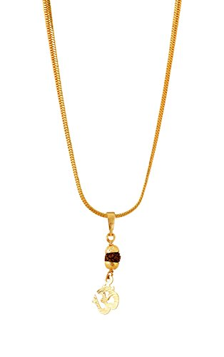 Handicraft Kottage Girl's Gold Plated Pendant (HK-SP-1069) by Handicraft Kottage