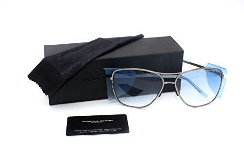PORSCHE DESIGN Sunglasses P8600 C Silver & Blue / Blue - Glasses Sun Porsche Design
