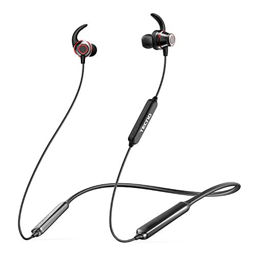 TECNO Wireless Bluetooth Headphones with Microphone, 38H Playtime Neckband Bluetooth Headphones, Running Wireless…
