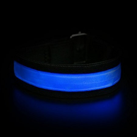 Led Armband [10 Pcs], LOHASIC Flashing Glow Bracelets for Nighttime Activity Blue