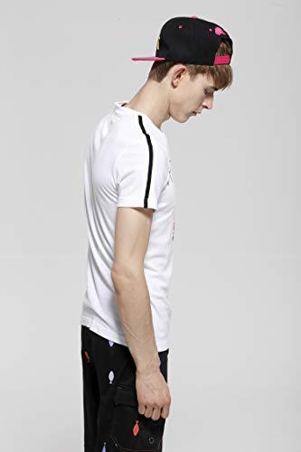HYDROGEN メンズ Tシャツ ゴルフ コットン 綿 100% 半袖 ドクロ プリント18731299 [並行輸入品]