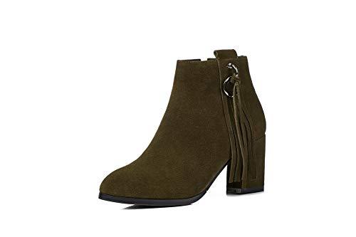 Vert 36 Green Sandales 5 Femme Abm12282 Balamasa Compensées BzIqZna