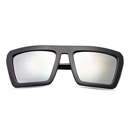 Sunglasses LVZAIXI Gafas de sol grandes y gruesas Gafas de sol Gafas Moda (Color : Negro) HfmY9F0