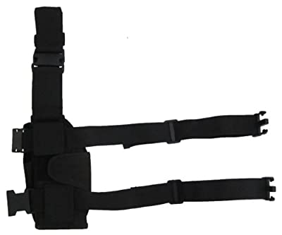 Tactical HQ Blitz - Universal Leg Holster - Lifetime Warranty. Premium Quality Adjustable Holsters for Medium or Large Pistols, Paintball and Airsoft Guns. Great for Ruger, 1911, Glock & Others. Features Long Leg Straps & Various Retention Options.