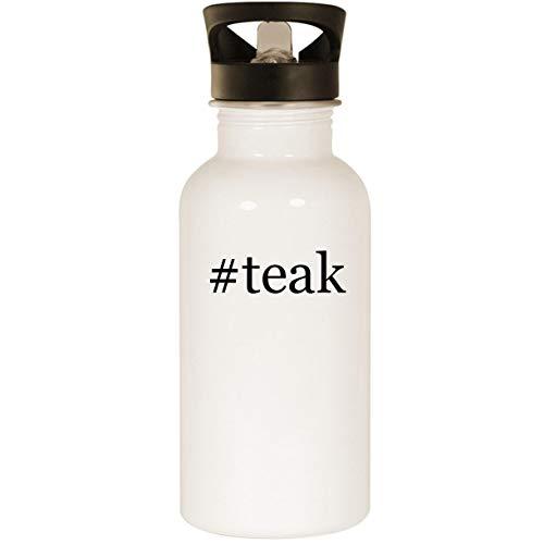 (#teak - Stainless Steel Hashtag 20oz Road Ready Water Bottle, White)