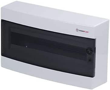 CABLEPELADO Caja distribucion electrica Superficie IP40 de 18 modulos Blanco: Amazon.es: Bricolaje y herramientas