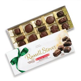 Amazon russell stover sugar free chocolate candy assortment russell stover sugar free chocolate candy assortment 825 oz box negle Image collections