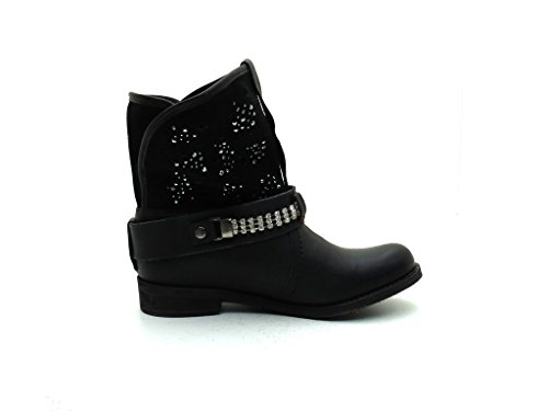 Biker Boots Boots Decorative Black Ankle 604 P Stones Ankle Franklin OgwqH7T