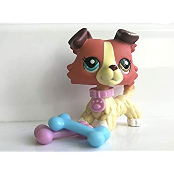Amazon.com: Hot Toy LPS Collie Red Dog Different Eyes