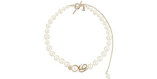 D.C. Parmentier Collier de perles ras de cou Lou, plaquage or 18K