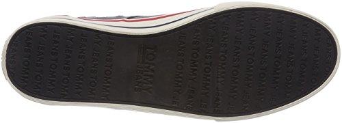 Sneaker Jeans Grey 039 Ginnastica Hilfiger Grigio Basse Steel Tommy Textile Denim Scarpe da Uomo W1nwxBHFnq
