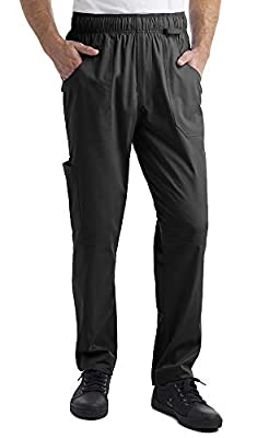 Industry Line Men's Stretch Cargo Chef Pant (XS-3X, Black)