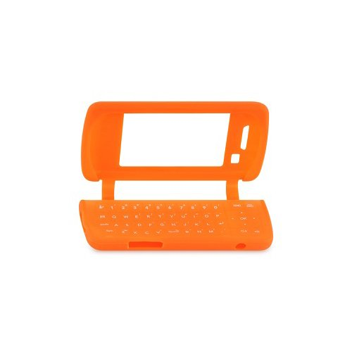 Env Silicone - Orange Soft Silicone Gel Skin Cover Case for LG enV Touch VX11000