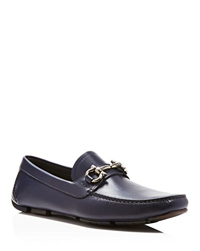 Salvatore Ferragamo Parigi 8drivers Blue Marin Leather Shoes