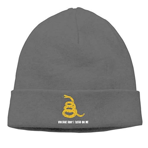 (Vintage Don't Tread On Me Adjustable Baseball Cap Hip-Hop Knitted Hat Men Women Unisex Sport Deep Heather)