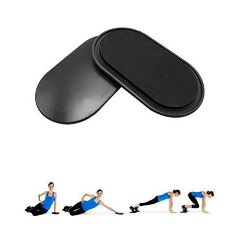 Enshey Exercise Sliders Discs, Sport Core Sliders Training on Carpet and Hardwood Floors Full Body Workout Fitness Equipment for Fitness/Stretch/Yoga/Pilates (Black)