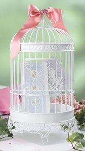 20″ WHITE BIRDCAGE CARD HOLDER, My Pet Supplies