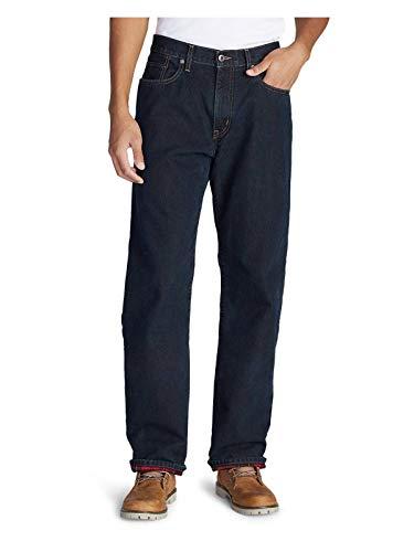 Eddie Bauer Men's Flannel-Lined Jeans - Relaxed Fit, Dk Indigo Regular 36/32 ()