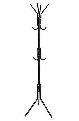 EWEI'S HomeWares Metal 12 Hooks Coat Jacket Purse Scarf Hat Rack Stand Display Tree