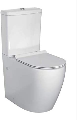 Comfort Height Toilet WC Closed Coupled Toilet WC Luxury Disabled Eldery WC Raised Height Pan Close Coupled Care New Modern Design Round Elegant