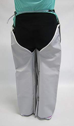LEG APRON, WATER PROOF, double sided, vinyl coated nylon fabric with protective waist flap and adjustable waist strap. Great for working around wet environments. One size fits 26''-36'' inseam.