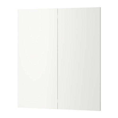Ikea 2-p door/corner base cabinet set, white 13x30 - Cabinet Ikea Corner