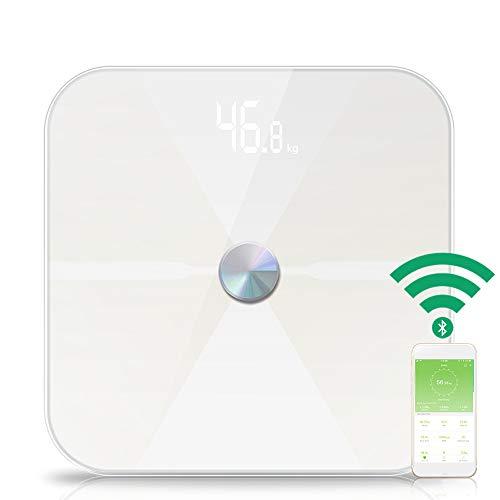 QJHP Bluetooth Inteligente Báscula De Baño Digital De Alta Medición Precisa con Sensores De Alta Precisión 4, Pantalla...