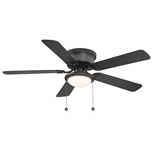 Bk Opal Matte - Hugger AL383LED-BK 52 in. LED Black Ceiling Fan