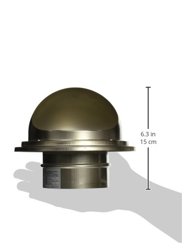 Noritz VT4-SH 4-Inch Hood Termination for Single Wall Stainless Steel Venting by Noritz (Image #1)