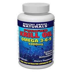 Krill Oil 1000mg (2 gelcaps) – Purified, Cold Pressed, Double Potency/60 Gelcaps