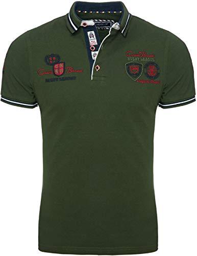 CARISMA Herren Polo-Shirt mit Stickerei Kurzarm