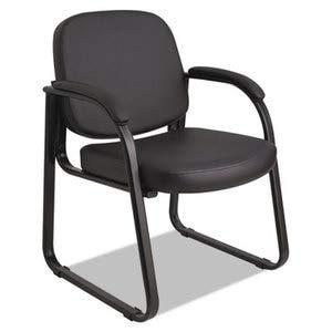 Alera RL43C16 Genaro Series Sled Base Guest Chair, Black Vinyl