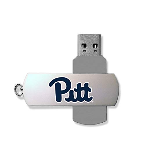 Keyscaper KUSB16-0PIT-INSGN1 Pittsburgh Panthers Metal Twist USB Drive with U of P Insignia - Metal Panthers Pittsburgh