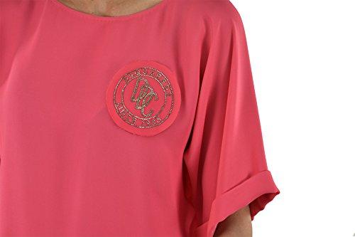 ... Dsquared2 Women's T-SHIRT Cockade Pink/Light Blue - size 40/42/ ...