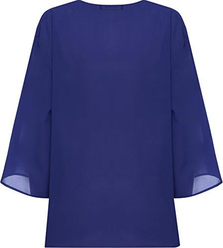 4 44 WearAll Cardigans Plus Haut 3 Femmes Cardigan Taille manches Kimono wxapTO