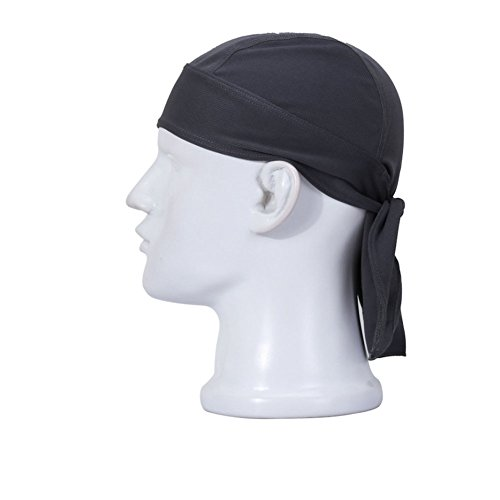 Lilyy Outdoor Cycling Running Double Dry Dew doo Rag headwrap skull cap hat (Cycling Summer Skull Cap compare prices)