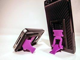 SlideStand Stand for Smartphones - Black & Purple Stand Pho